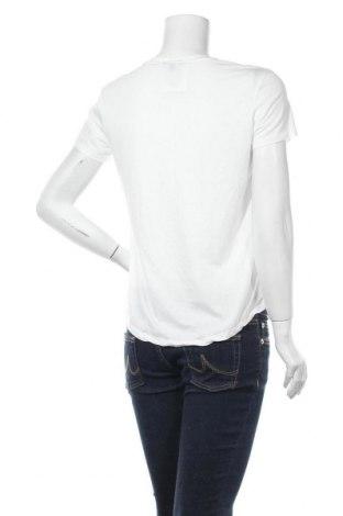 Дамска тениска Massimo Dutti, Размер M, Цвят Бял, 67% лиосел, 33% памук, Цена 22,40лв.