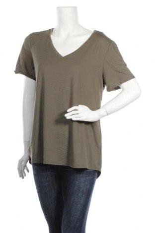 Дамска тениска Maurices, Размер L, Цвят Зелен, 91% полиестер, 9% еластан, Цена 23,21лв.