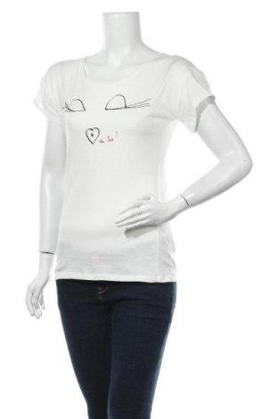 Дамска тениска Morgan, Размер M, Цвят Екрю, 100% памук, Цена 14,96лв.