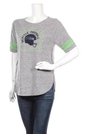 Дамска тениска NFL, Размер XL, Цвят Сив, 60% памук, 40% полиестер, Цена 13,44лв.
