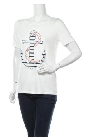 Дамска тениска New K, Размер L, Цвят Бял, 95% вискоза, 5% еластан, Цена 16,80лв.