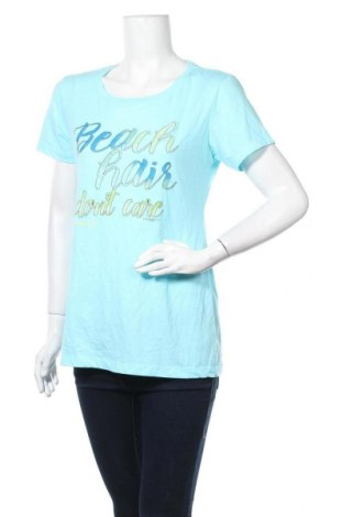 Дамска тениска Next Level Apparel, Размер XL, Цвят Син, 60% памук, 40% полиестер, Цена 12,60лв.