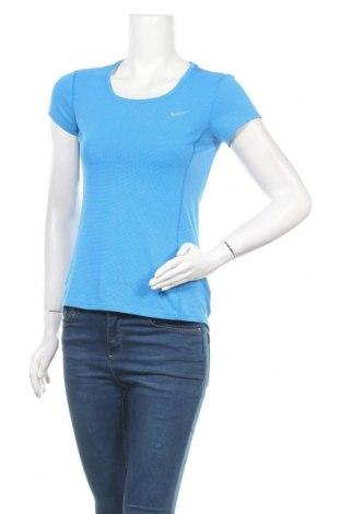 Дамска тениска Nike, Размер XS, Цвят Син, Полиестер, Цена 18,48лв.