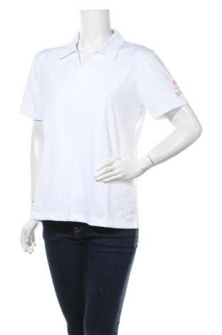 Дамска тениска Nike, Размер XL, Цвят Бял, 92% полиестер, 8% еластан, Цена 27,41лв.