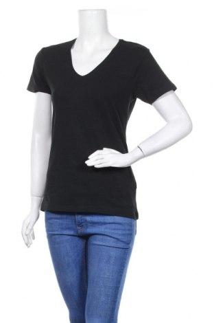 Дамска тениска Nkd, Размер L, Цвят Черен, 95% памук, 5% еластан, Цена 14,18лв.