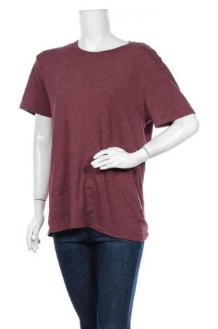 Дамска тениска Old Navy, Размер M, Цвят Червен, 60% памук, 40% полиестер, Цена 13,23лв.
