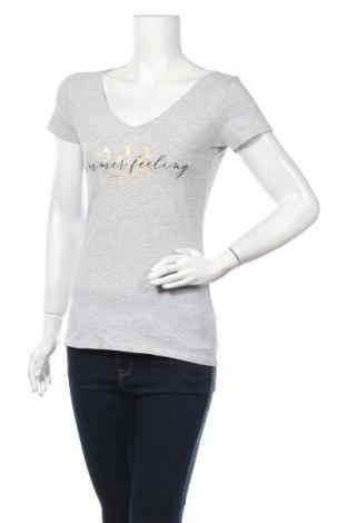 Дамска тениска Orsay, Размер M, Цвят Сив, 90% памук, 5% вискоза, 5% еластан, Цена 13,23лв.
