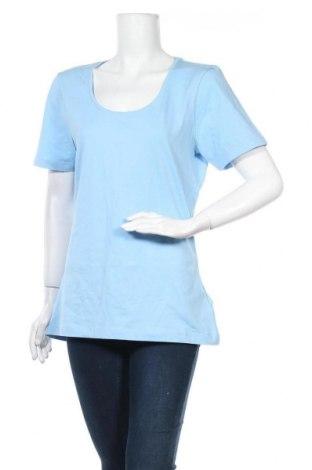 Γυναικείο t-shirt Outdoor, Μέγεθος XXL, Χρώμα Μπλέ, 92% βαμβάκι, 8% ελαστάνη, Τιμή 6,43€
