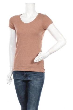 Дамска тениска Primark, Размер M, Цвят Кафяв, 57% памук, 38% полиестер, 5% еластан, Цена 8,19лв.