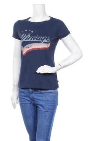Дамска тениска Q/S by S.Oliver, Размер S, Цвят Син, 52% памук, 48% полиестер, Цена 17,85лв.