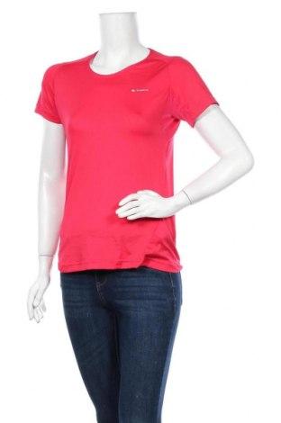 Дамска тениска Quechua, Размер M, Цвят Розов, 77% полиестер, 23% еластан, Цена 9,82лв.