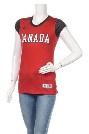 Дамска тениска Russell, Размер M, Цвят Червен, 95% полиестер, 5% еластан, Цена 7,56лв.