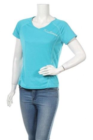 Дамска тениска Salomon, Размер M, Цвят Син, Полиестер, Цена 25,92лв.