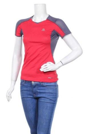 Дамска тениска Salomon, Размер XS, Цвят Сив, 93% полиестер, 7% еластан, Цена 16,28лв.