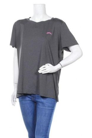 Дамска тениска Slazenger, Размер XL, Цвят Сив, 89% полиестер, 11% еластан, Цена 10,97лв.