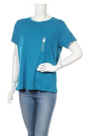 Дамска тениска St. John's Bay, Размер XL, Цвят Син, Памук, Цена 20,48лв.