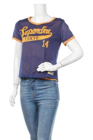 Дамска тениска Superdry, Размер S, Цвят Син, Полиамид, Цена 35,70лв.