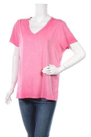 Дамска тениска Time and tru, Размер XXL, Цвят Червен, 57% памук, 38% модал, 5% еластан, Цена 10,08лв.
