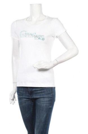 Дамска тениска Tom Tailor, Размер S, Цвят Бял, Памук, Цена 26,46лв.