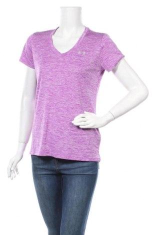 Дамска тениска Under Armour, Размер S, Цвят Лилав, Полиестер, Цена 19,11лв.
