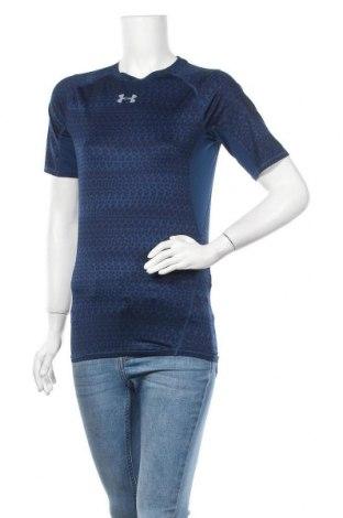 Дамска тениска Under Armour, Размер M, Цвят Син, 84% полиестер, 16% еластан, Цена 19,64лв.