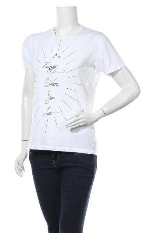 Дамска тениска Uniqlo, Размер M, Цвят Бял, Памук, Цена 10,29лв.