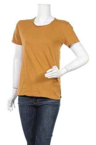 Дамска тениска Zara, Размер M, Цвят Кафяв, Памук, Цена 18,48лв.