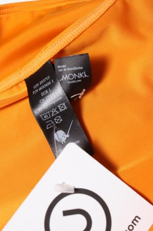 Дамски бански Monki, Размер L, Цвят Оранжев, 84% полиестер, 16% еластан, Цена 24,00лв.