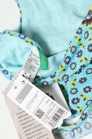Дамски бански United Colors Of Benetton, Размер L, Цвят Син, 80% полиамид, 20% еластан, Цена 12,60лв.