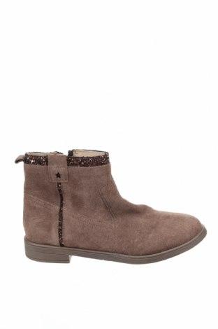 Детски обувки Okaidi, Размер 35, Цвят Кафяв, Естествен велур, Цена 59,25лв.