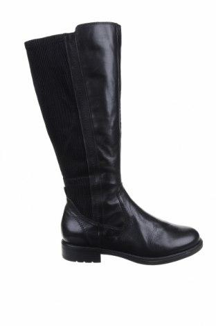 Дамски ботуши Jana, Размер 40, Цвят Черен, Естествена кожа, еко кожа, текстил, Цена 76,05лв.