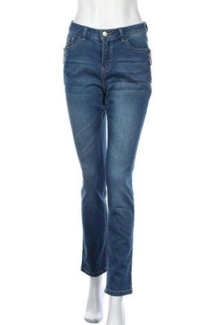 Дамски дънки Collection L, Размер M, Цвят Син, 79% памук, 19% полиестер, 2% еластан, Цена 29,76лв.