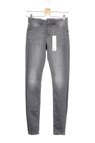 Дамски дънки Edc By Esprit, Размер XS, Цвят Сив, 82% памук, 17% полиестер, 1% еластан, Цена 51,75лв.