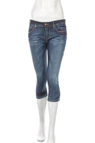 Дамски дънки Ermanno Scervino, Размер M, Цвят Син, 98% памук, 2% полиестер, Цена 86,00лв.