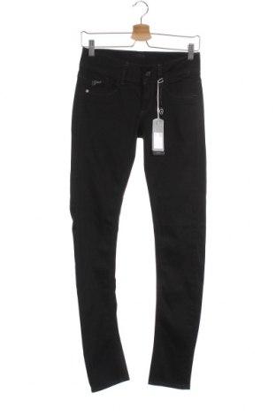 Дамски дънки G-Star Raw, Размер S, Цвят Черен, 98% памук, 2% еластан, Цена 76,05лв.