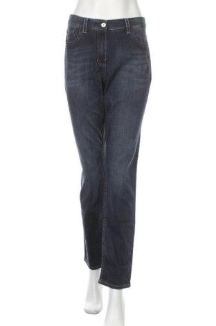Дамски дънки G.W., Размер L, Цвят Син, 89% памук, 10% полиестер, 1% еластан, Цена 34,50лв.