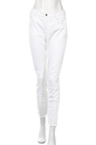 Дамски дънки H&M, Размер XL, Цвят Бял, Цена 21,00лв.