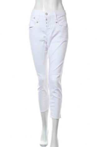 Дамски дънки Herrlicher, Размер M, Цвят Бял, 52% памук, 46% лиосел, 2% еластан, Цена 36,57лв.