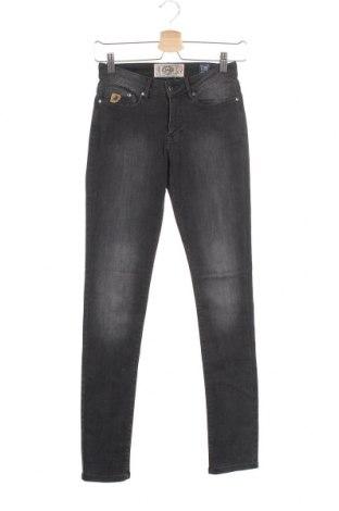 Дамски дънки Lois, Размер XS, Цвят Сив, 91% памук, 8% полиестер, 1% еластан, Цена 29,43лв.