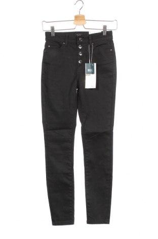 Дамски дънки ONLY, Размер XS, Цвят Черен, 92% памук, 6% полиестер, 2% еластан, Цена 26,07лв.