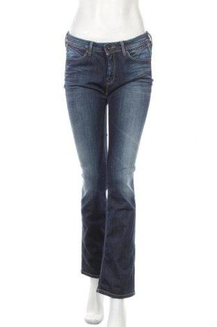 Дамски дънки Pepe Jeans, Размер L, Цвят Син, 91% памук, 8% полиестер, 1% еластан, Цена 46,50лв.