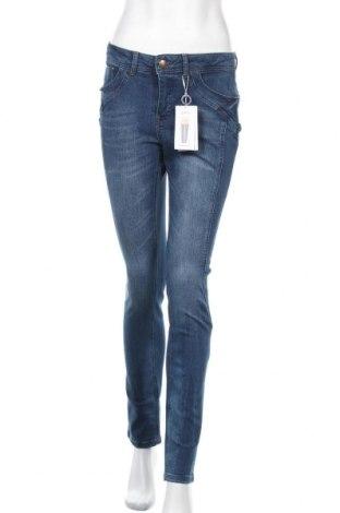 Дамски дънки Rick Cardona, Размер S, Цвят Син, 98% памук, 2% еластан, Цена 66,75лв.