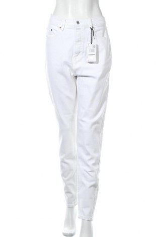 Дамски дънки Violeta by Mango, Размер XL, Цвят Бял, 99% памук, 1% еластан, Цена 59,25лв.