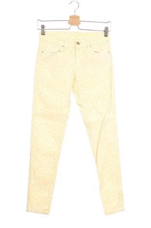 Γυναικείο Τζίν Zara, Μέγεθος XS, Χρώμα Κίτρινο, 97% βαμβάκι, 3% ελαστάνη, Τιμή 7,12€