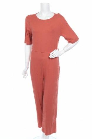 Дамски гащеризон Even&Odd, Размер L, Цвят Оранжев, 95% памук, 5% еластан, Цена 43,07лв.