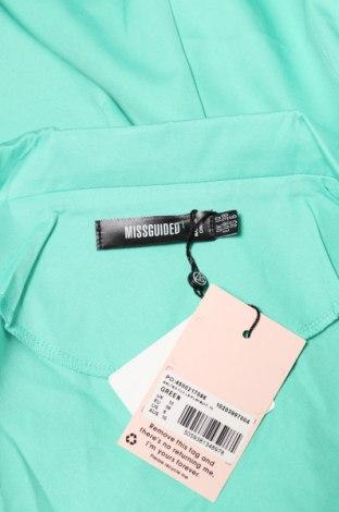 Дамски гащеризон Missguided, Размер M, Цвят Зелен, 90% полиестер, 10% еластан, Цена 25,92лв.