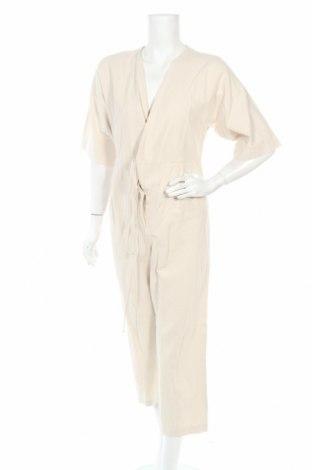 Дамски гащеризон Selected Femme, Размер XS, Цвят Бежов, 55% лен, 45% памук, Цена 67,16лв.