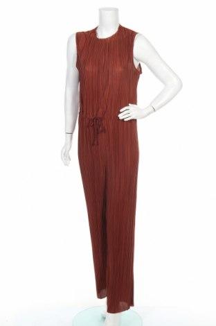 Дамски гащеризон Selected Femme, Размер L, Цвят Кафяв, Полиестер, Цена 87,72лв.