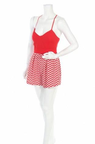 Дамски гащеризон She's Secret, Размер S, Цвят Червен, 95% полиестер, 5% еластан, Цена 13,97лв.