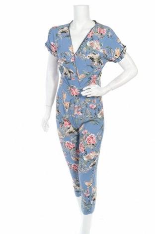 Дамски гащеризон Zara, Размер S, Цвят Многоцветен, Вискоза, Цена 31,50лв.